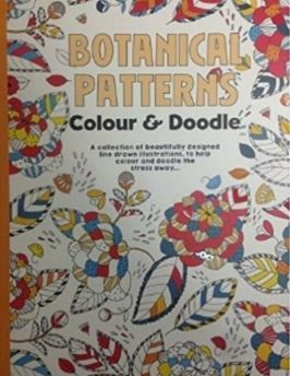 Adult colouring book. Botanical patterns. Colour & Doodle